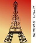 Stock vector eiffel tower 8096269
