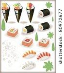 sushi - stock vector