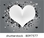 white and gray abstract heart... | Shutterstock . vector #8097577
