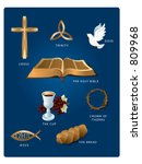 christian icons  cross  dove ... | Shutterstock .eps vector #809968