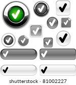 check vector grey icons. | Shutterstock .eps vector #81002227