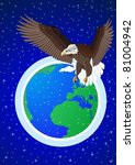 flying eagle on a background of ...