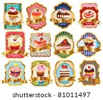 vector set labels with sweet... | Shutterstock .eps vector #81011497