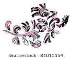 decorative floral design  on a... | Shutterstock .eps vector #81015154