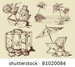 hand drawn summer symbols  ... | Shutterstock .eps vector #81020086