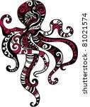 octopus | Shutterstock .eps vector #81021574
