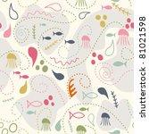 sea world seamless pattern ...   Shutterstock .eps vector #81021598