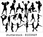 cheering squad | Shutterstock .eps vector #8103469