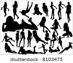 woman | Shutterstock .eps vector #8103475
