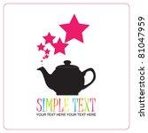 abstract illustration of teapot ... | Shutterstock .eps vector #81047959