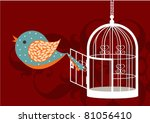 Vector Of An Opened Birdcage