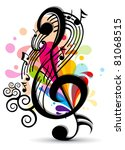music theme background with... | Shutterstock .eps vector #81068515