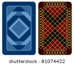 design of two playing cards on... | Shutterstock .eps vector #81074422