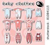 Baby Onesie Template In Pink...