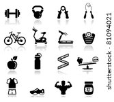 icons set fitness | Shutterstock .eps vector #81094021
