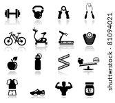 icons set fitness | Shutterstock .eps vector #81094021