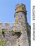 stone tower castle in normandy france - stock photo