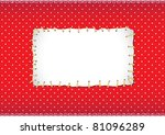 Polka Dot Frame With Stitched...