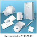 template for the presentation | Shutterstock .eps vector #81116311