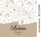 the concept of coffeehouse menu.   Shutterstock .eps vector #81116584