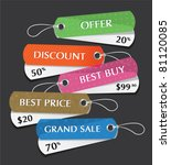 vector set of price tags | Shutterstock .eps vector #81120085