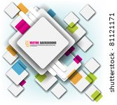 eps10 vector multicolor square... | Shutterstock .eps vector #81121171