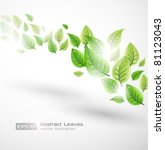 abstract leaves vector... | Shutterstock .eps vector #81123043