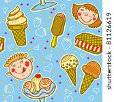 ice cream pattern.   Shutterstock .eps vector #81126619