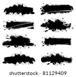 splash banners set | Shutterstock . vector #81129409