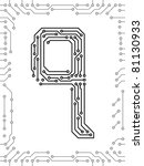 alphabet of printed circuit...   Shutterstock .eps vector #81130933