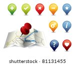 gps icon set | Shutterstock .eps vector #81131455