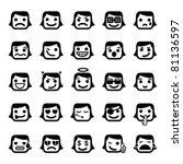 set of 25 smiley faces. women... | Shutterstock .eps vector #81136597