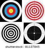 sport shooting target  archery  ... | Shutterstock .eps vector #81137845