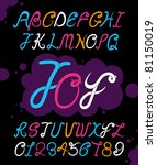 vector of fun and abstract font | Shutterstock .eps vector #81150019