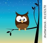 owl in a tree | Shutterstock .eps vector #81152170