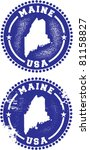 Maine USA Stamps - stock vector