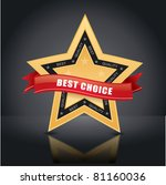 best choice  vector gold star... | Shutterstock .eps vector #81160036