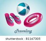 swimming equipment | Shutterstock .eps vector #81167305