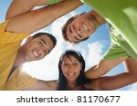 Multiethnic Group Of Male And...