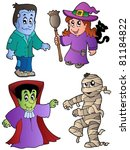 cartoon halloween characters 1  ... | Shutterstock .eps vector #81184822