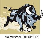 charging bull | Shutterstock .eps vector #81189847