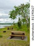 Picnic Table At Green Lake In...