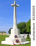 Canadian memorial in normandy france - stock photo