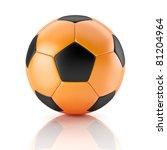 Black And Orange Soccer Ball
