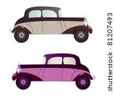 vintage car collection | Shutterstock .eps vector #81207493