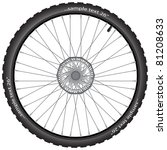 detailed bicycle wheel with... | Shutterstock .eps vector #81208633