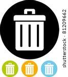 trashcan  vector  | Shutterstock .eps vector #81209662