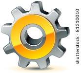 vector gear as preferences icon ... | Shutterstock .eps vector #81210010