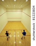 Squash Room With Player