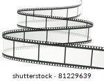 a reel of film on white | Shutterstock . vector #81229639